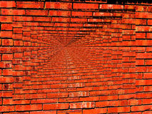 Vibrant Brick Wall Infinity wallpaper Stock Photography