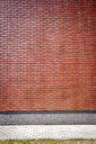 Vibrant brown brick wall Stock Image