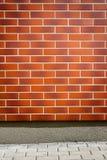 Vibrant brown brick wall Royalty Free Stock Photography