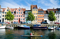 Vibrant canals of Copenhagen Royalty Free Stock Photography