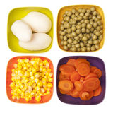 Vibrant Canned Vegetables Royalty Free Stock Images
