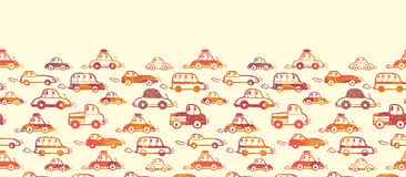 Vibrant cars horizontal seamless pattern Royalty Free Stock Images