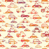 Vibrant cars seamless pattern background Royalty Free Stock Photos