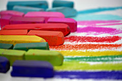 Vibrant Chalks Stock Photos