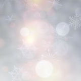 Vibrant christmas background. Vibrant defocused background. Bright bokeh with snowflakes. Vector illustration Royalty Free Illustration