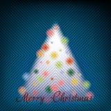 Vibrant Christmas Wishes Stock Photo