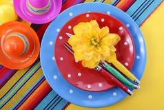 Vibrant Cinco de Mayo Table Setting. Stock Image