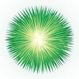 Abstract background. Explosion. Vector drawing. Vibrant circle fantasy midpoint flower drawing shape art design. Big fuzzy magic sphere form effect in modern royalty free illustration
