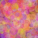 Vibrant Circular Swirl grunge background. Vibrant yellow, red, pink,purple combination as Circular Swirl grunge background Royalty Free Stock Photos