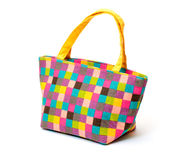 Vibrant Cloth Ladies Handbag Royalty Free Stock Image