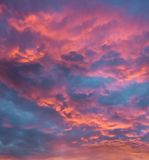 Vibrant clouds at sunset Stock Photo