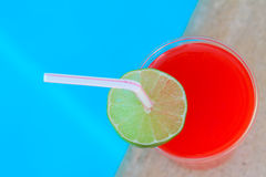 Vibrant Cocktail beside the pool Royalty Free Stock Images