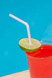 Vibrant Cocktail beside the pool Royalty Free Stock Photo
