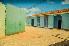 Vibrant colonial houses on street in Trinidad,Cuba Royalty Free Stock Photos