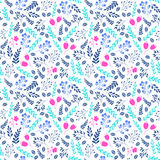 Vibrant color floral seamless pattern with flowers Royalty Free Stock Photo
