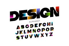 Vibrant color modern font Royalty Free Stock Image