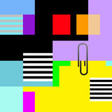 A Vibrant Color Organized Modern Abstract with a Paper Clip.. Stock Images