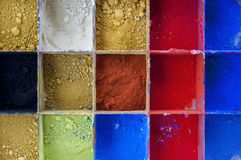 Vibrant Color Pigments Royalty Free Stock Photos