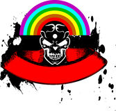 Vibrant Color Rainbow Skull Banner. Stock Images