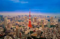 Vibrant color of tokyo tower Royalty Free Stock Photo