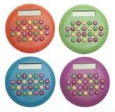 Vibrant Colored Calculators Stock Photos
