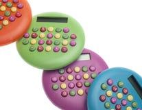 Vibrant Colored Calculators Royalty Free Stock Photos
