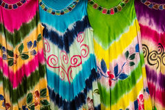 Colored fabric stock photography