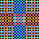 Vibrant colored gingham seamless background. Chequered pattern Stock Photography