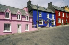 Vibrant colored houses in Eyeries Village, West Cork, Ireland Royalty Free Stock Image