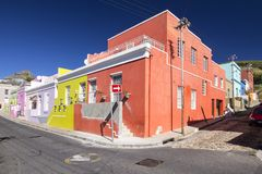Colorful houses of Bo-kaap, Cape Town. Vibrant colored houses of the muslim quarter of Cape Town, Bo-Kaap Royalty Free Stock Photos
