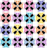 Vibrant colored seamless floral pattern Royalty Free Stock Images