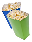 Vibrant Colored Treat Boxes Filled with Popcorn Royalty Free Stock Photo