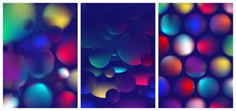 Vibrant colorful abstract gradient in the sphere, color reflexes on geometric shapes, Trendy modern design background. For your design royalty free illustration