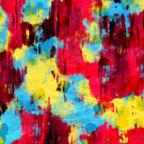 Vibrant Colorful Drip Splatter Paint Abstract Art. Vibrant colorful paint splatter abstract background stock illustration