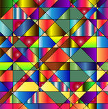 Vibrant colorful polygonal background Stock Images