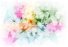 Vibrant colorful shiny stars background Stock Photos