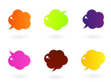 Vibrant colorful speech  icons Stock Photo