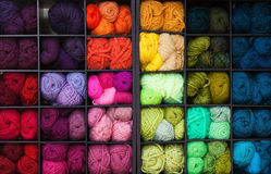 Vibrant Colorful Yarn Stock Image