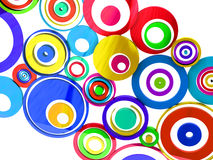 Vibrant colors circles Stock Photography