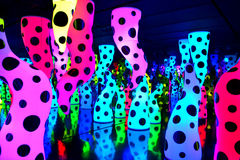 Vibrant colors. Dots and vibrant colors in a psychedelic sculpture Royalty Free Stock Photo
