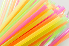Vibrant colors drinking straws plastic type. Colorful plastic straws used for drinking soft drinks, fresh juices, smoothies which are using in hotels and Stock Photography