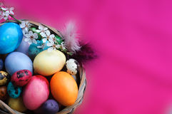 Vibrant Colors Easter Background Stock Images
