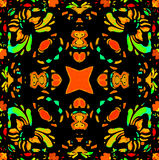 Vibrant Colors Refined Ornament Royalty Free Stock Photography