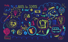 Vibrant colors School education sheme Royalty Free Stock Images