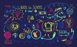 Vibrant colors School education sheme Stock Photo