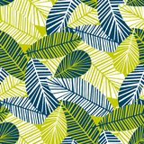 Vibrant cool leaves seamless pattern Royalty Free Stock Photography