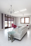 Vibrant cottage - bright sofa Stock Image