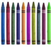 Vibrant Crayon Back to School Border Image Stock Images