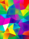 Vibrant Crystal Pattern stock illustration