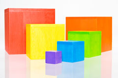 Vibrant cubes. Vibrant square target of cubes Royalty Free Stock Photo